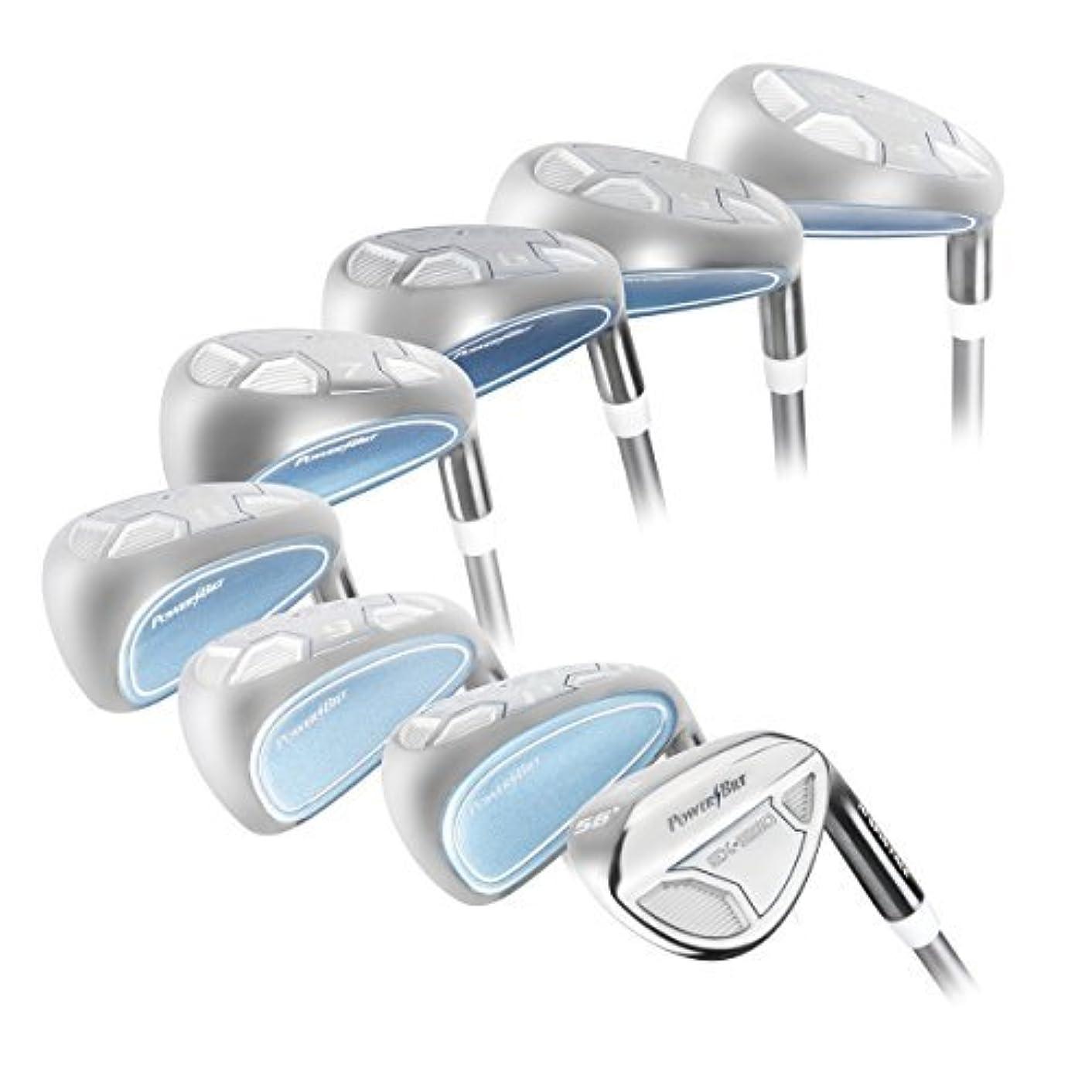 マキシムキリスト教キャッチPetite Lady's Powerbilt Golf EX-550 Hybrid Iron Set, which Includes: #4, 5, 6, 7, 8, 9, PW +SW Lady Flex Right Handed New Utility L Flex Club [並行輸入品]
