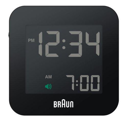 【正規輸入品】 BRAUN(ブラウン) 目覚まし時計 BNC008BKBK