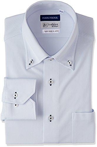 (はるやま) HARUYAMA(ハルヤマ) i-shirt 完全ノーアイロン 長袖 ボタンダウンアイシャツ M151180044 81 サックス LL86(首回り43cm×裄丈86cm)
