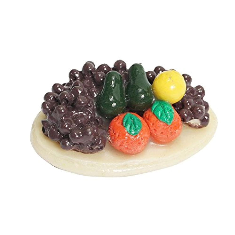 Nice Days(ナイス ディズ) 1/12 ドールハウス小物 ミニモデル ミニチュア フルーツプレート ブドウ レモン