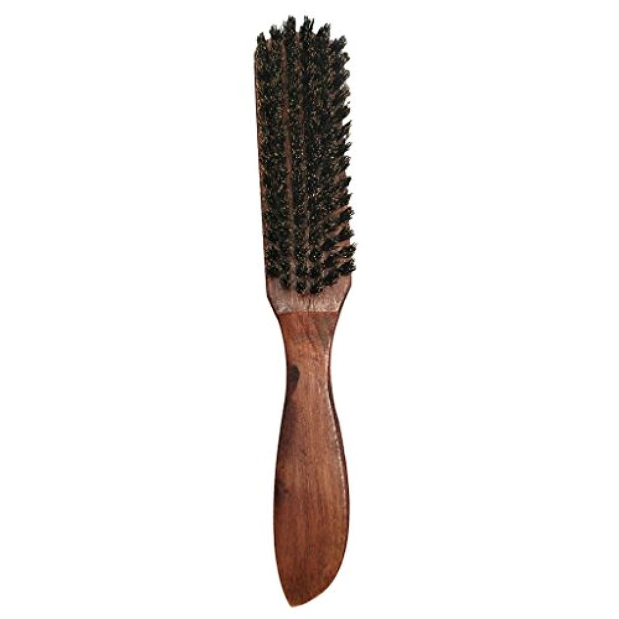 弾性領収書征服するメンズナチュラルファームブラシひげ口ひげスタイリンググルーミングシェービング木製ハンドルコームすべてのひげバームとオイルで動作します - #2