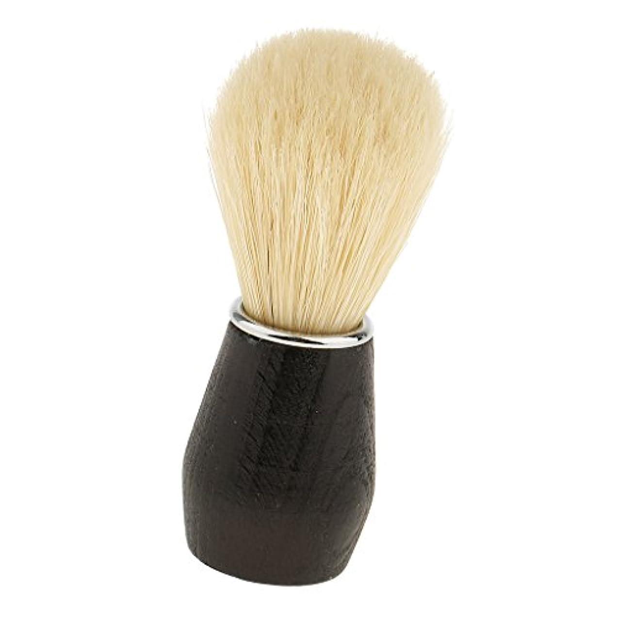 Baosity 父のギフト ソフト 実用的 プロフェッショナル バーバーサロン家庭用 ひげ剃りブラシ プラスチックハンドル フェイシャルクリーニングブラシ ブラック