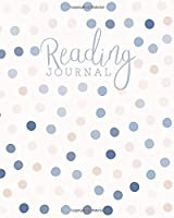 Reading Journal: Log, Track, Rate, Review Books Read Diary | Record Favourite Reads and Authors, List Books to Read - Pastel Tan & Blue Polka Dots Pattern