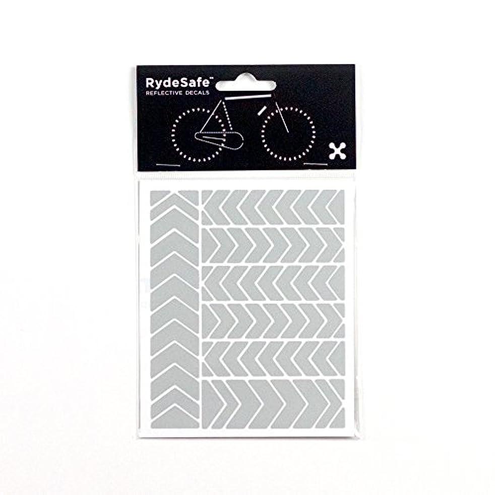 未知の伸ばす擬人RydeSafe Reflective Decalsシェブロンキット、白、小