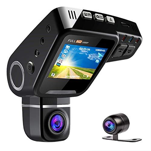 ドライブレコーダー 前後カメラ ドラレコ ドライブレコーダー gps 1080PフルHD 2.0インチ 170°高画質 広視野角 1200万画素 前後録画 回転レンズ CMOSセンサー搭載 WDR機能 駐車監視 動体検知 常時録画 コンデンサ内蔵