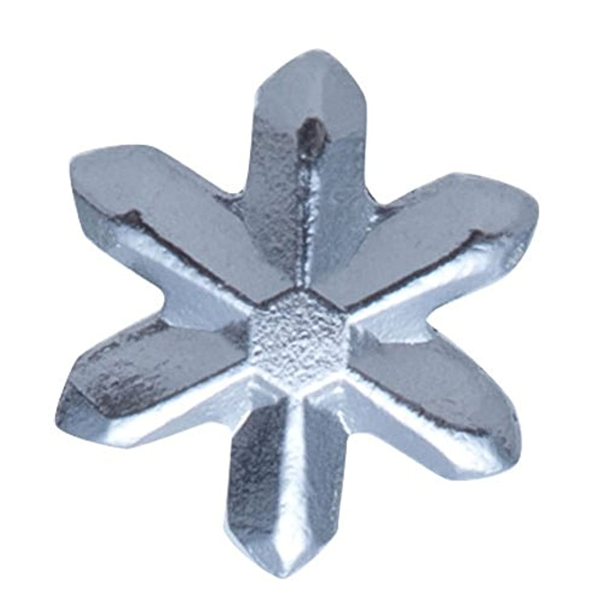 立派な合併症冷凍庫リトルプリティー マルチネイルコート 3Dスタッズスノーシルバー 50P アート材