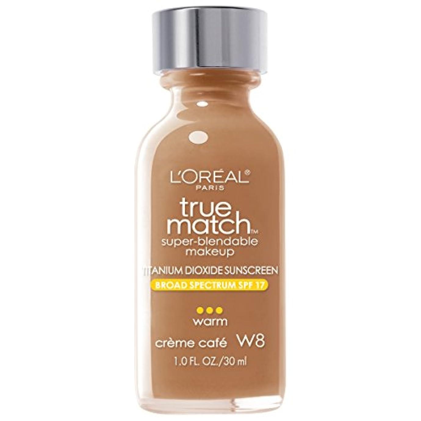 の間に契約した無能L'Oréal True Match Super-Blendable Foundation Makeup (CRÈME CAFÉ)
