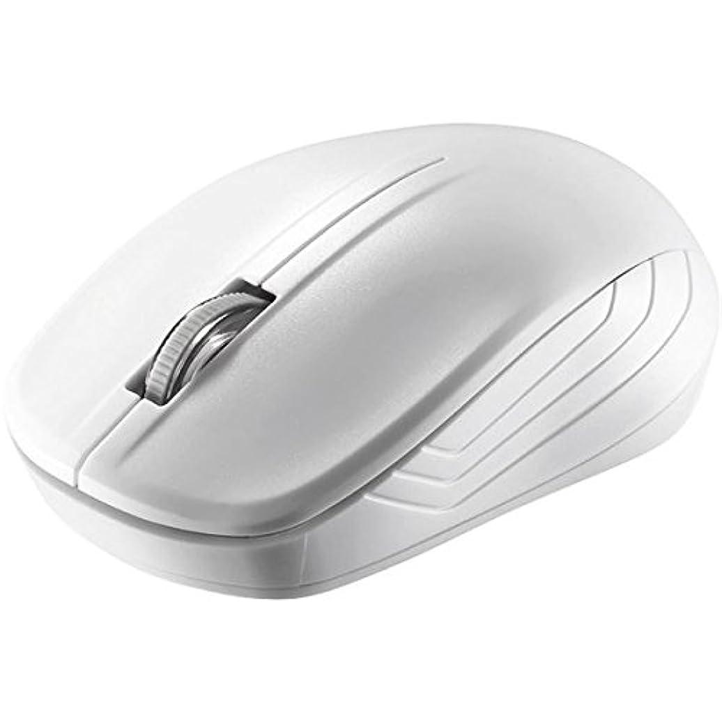バッファロー 無線(2.4GHz)IR LEDマウス 3ボタンタイプ 簡易パッケージモデル ホワイト BSMRW21WHZ