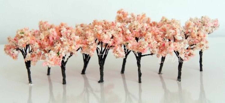 桜 さくら 樹木 木 鉄道 模型 建築 模型用 ジオラマ 10本 セット