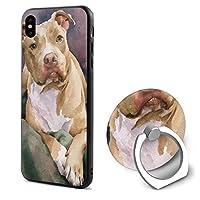 アニマル屋 Iphone X ケース リング付き 衝撃防止 かわいい犬 スタンド機能 360°回転 カートウーン 携帯カバー おしゃれ 薄型 アイフォン X ケース アイフォンカバー スマフォケース 携帯ケース 落下防止