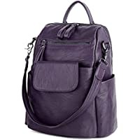 UTO Women's 3 Ways PU Leather Casual Backpack Shoulder Bag Handbag Totes with Anti Theft Pocket Detachable Shoulder Strap