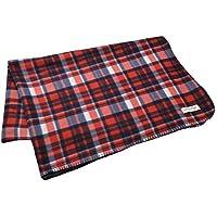 レッド/チェック F (ディーループ) D-LOOP あったか フリース ブランケット (L) 毛布 シングルサイズ 大半 防寒 124440-010-803