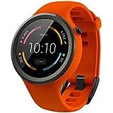 【第2世代】Moto 360 2nd Gen 2015 Smart Watch スマートウォッチ 腕時計 Android Wear iOS対応 (Moto 360 Sport フレームオレンジ) [並行輸入品]