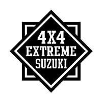 4x4 EXTREME スズキ カッティング ステッカー ブラック 黒