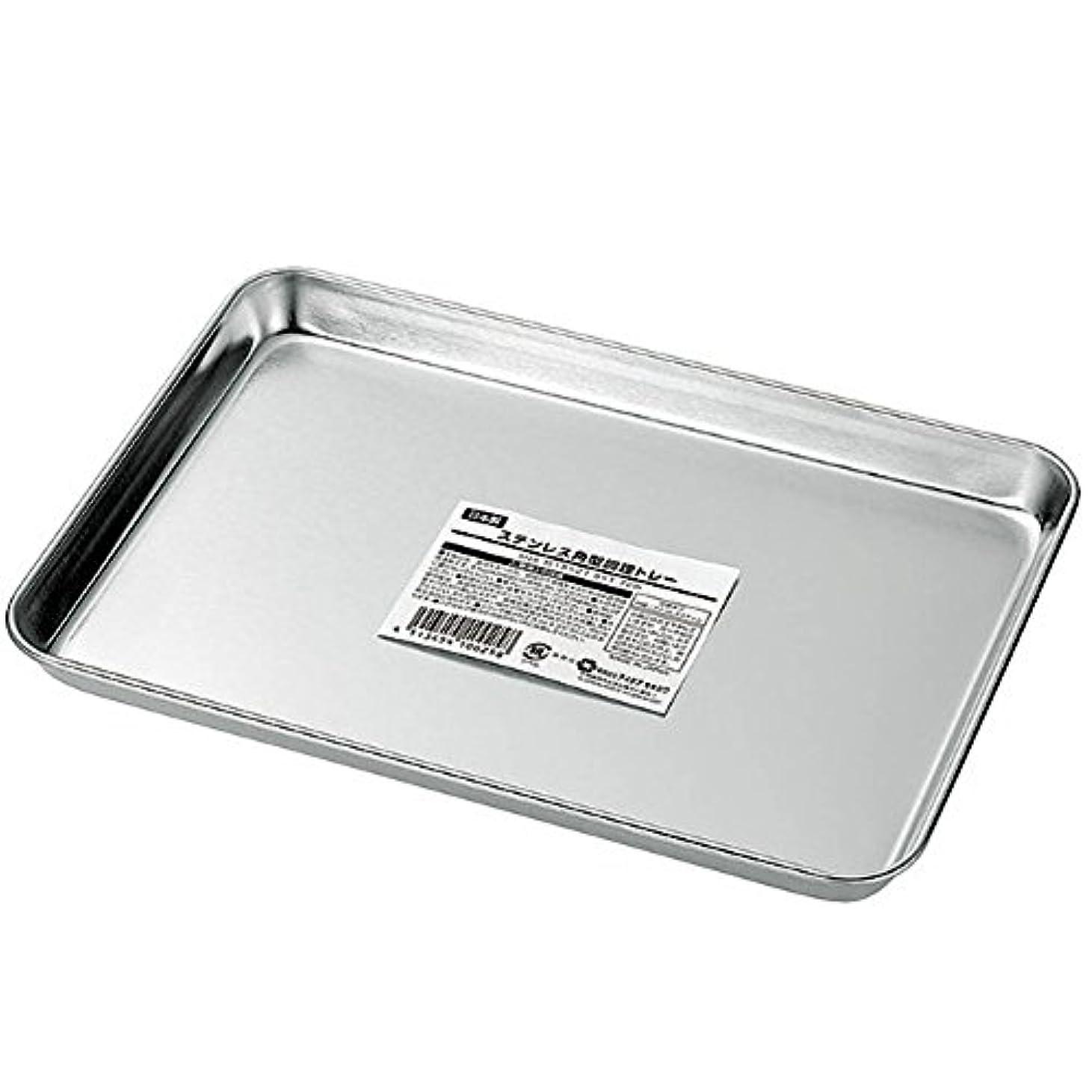 実験ハンバーガーあざエコー金属 ステンレス角型調理トレー 0321-099