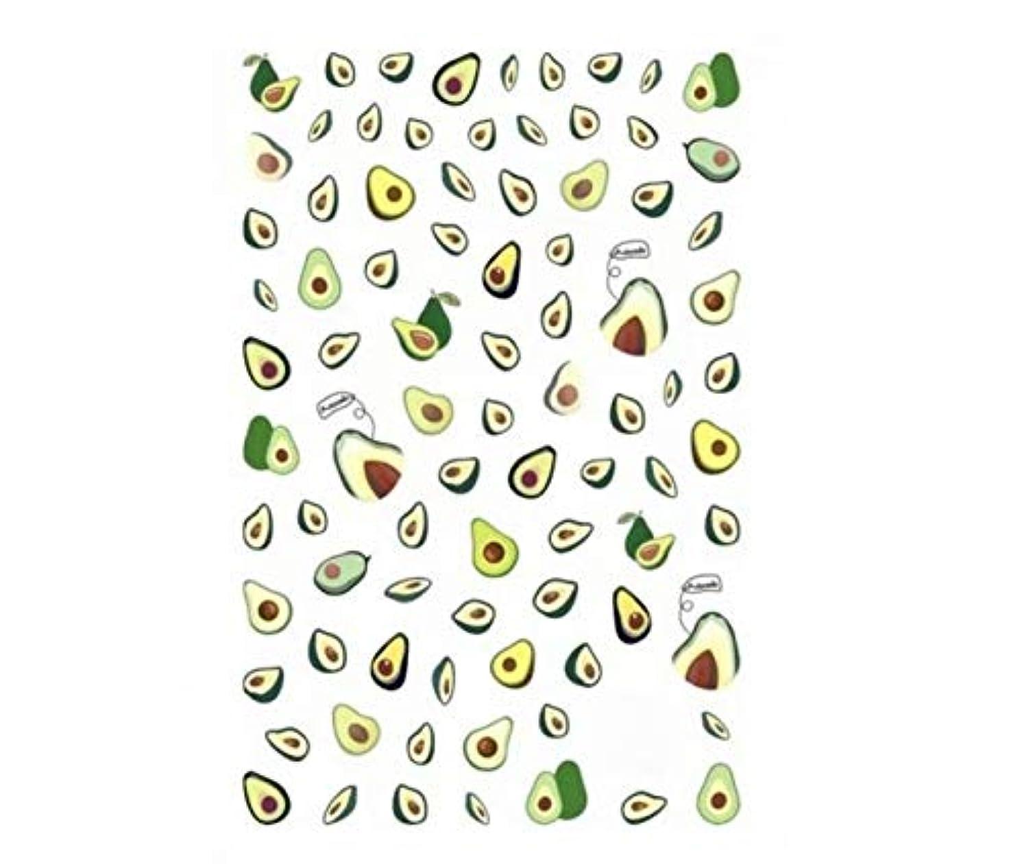 呼びかける画像合理化Tianmey 3Dカラーデザインのヒントネイルアートステッカーデカールマニキュア美しいファッションマニキュアアクセサリーデコレーション (Color : Avocado)