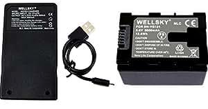 【WELLSKY】 Jvc Victor ビクター  ● BN-VG121 / BN-VG129 互換バッテリー 1個 & 【超軽量】 USB急速互換充電器 AA-VG1 1個●2点セット● 純正品と同じよう使用可能・残量表示可能● GZ-MS210/GZ-MG980/GZ-HD620/GZ-HM350/GZ-HM450/GZ-HM570/GZ-HM670/GZ-HM690/GZ-HM880/GZ-HM890/GZ-HM990/GZ-MS230/GZ-E265/GZ-E225/GZ-E220/GZ-G5/GZ-EX270/GZ-EX250/GZ-E280/GZ-E320/GZ-E325/GZ-E345/GZ-EX350/GZ-EX370/GZ-E565/GV-LS1/GV-LS2/GZ-N1/GZ-N5等対応