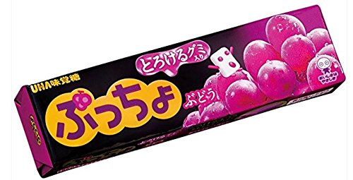 UHA味覚糖 ぷっちょスティック ぶどう 10粒×10個入×(2ケース)