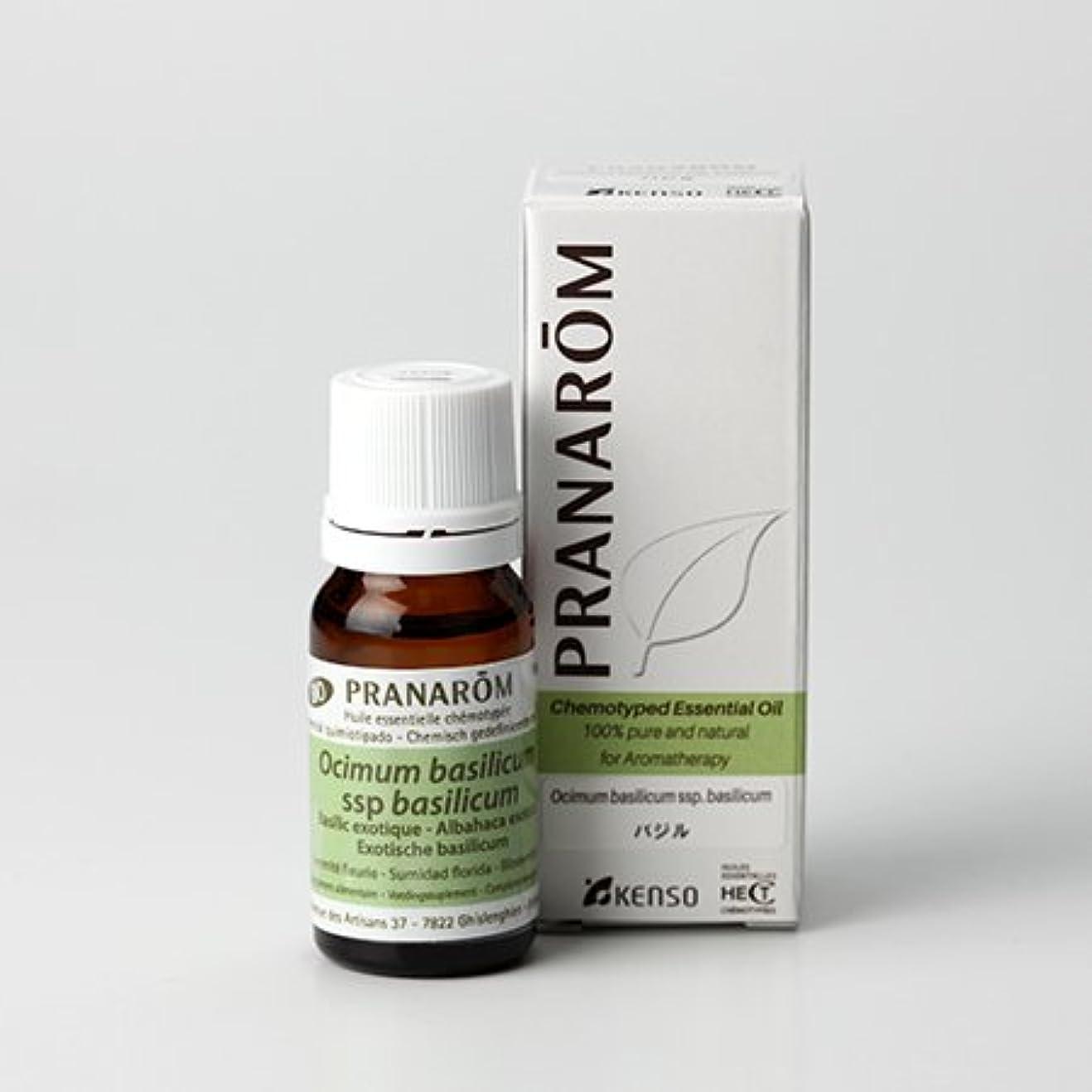 フィヨルドひばり部プラナロム ( PRANAROM ) 精油 バジル 10ml p-128
