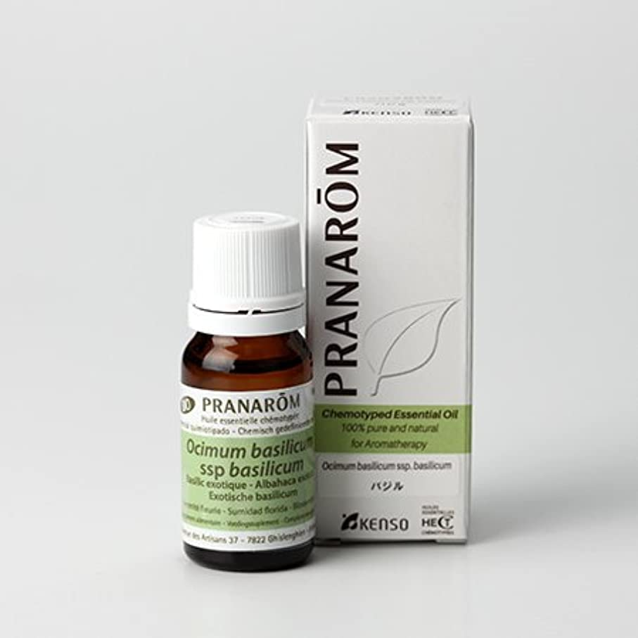 出力イサカ溶岩プラナロム ( PRANAROM ) 精油 バジル 10ml p-128