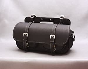 DEGNER(デグナー) ナイロンサドルバッグ マフラー側 PVC(合成皮革)・ナイロン 21x42x14cm ブラック NB-44