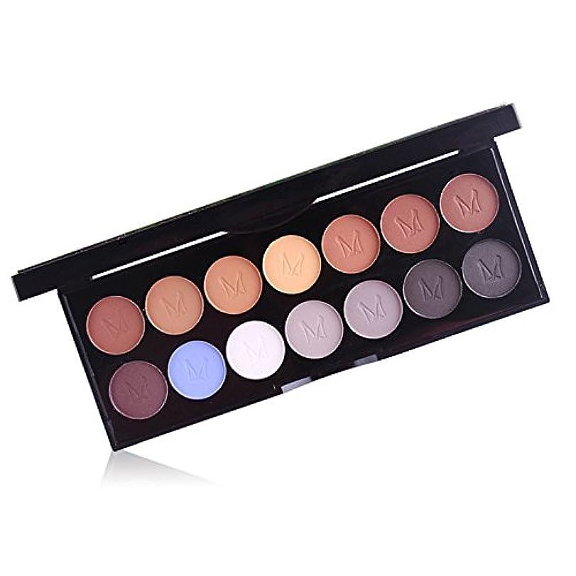 クレタ力強い高尚なAkane アイシャドウパレット MISS ROSE 綺麗 魅力的 ファッション 人気 マット 気質的 キラキラ 真珠光沢 チャーム 防水 長持ち おしゃれ 持ち便利 Eye Shadow (14色) 7001-047MY