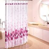 お花のかわいいシャワーカーテン ユニットバス バスルーム