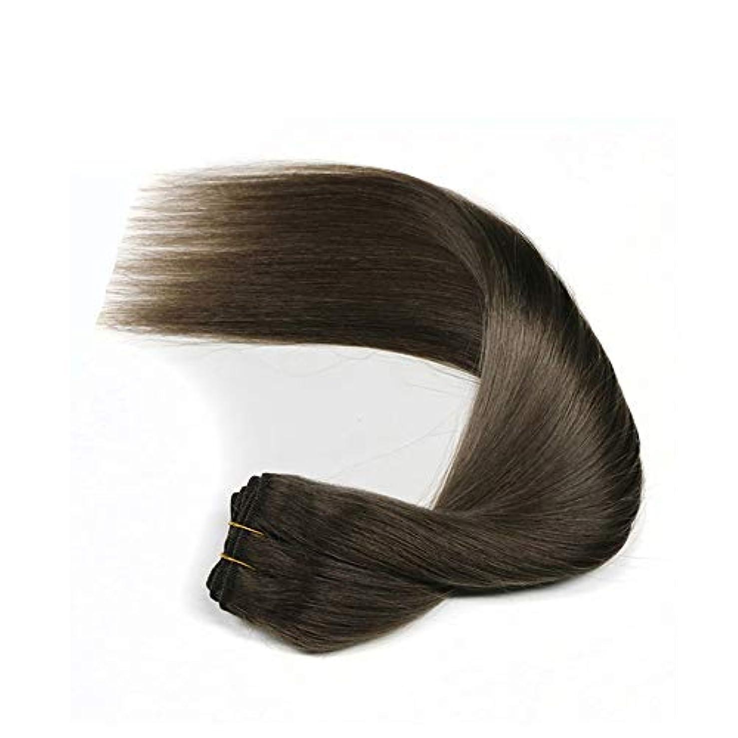 混合ファブリック時計JULYTER 女性のためのブラジルの100%未処理の人間の髪の束ストレートヘア生物学的な黒いSemblance (色 : Natural color, サイズ : 20 inch)