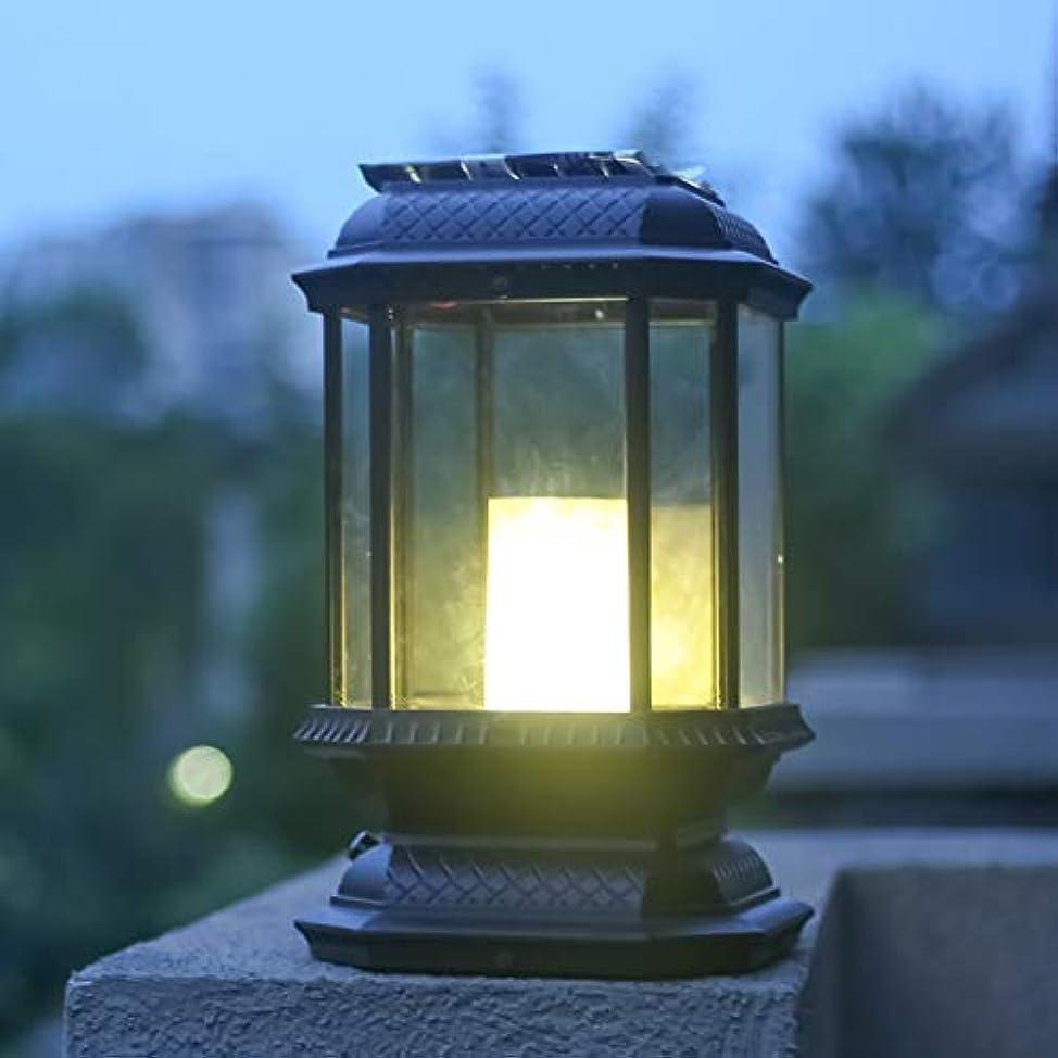 深める受信機メッセージPinjeer E27ヴィンテージ防水ソーラー屋外正方形の列ライトヨーロッパのレトロインダストリアルアルミポスト照明ガーデンヴィラホーム中庭装飾的な柱のランプ (Color : Style-B)