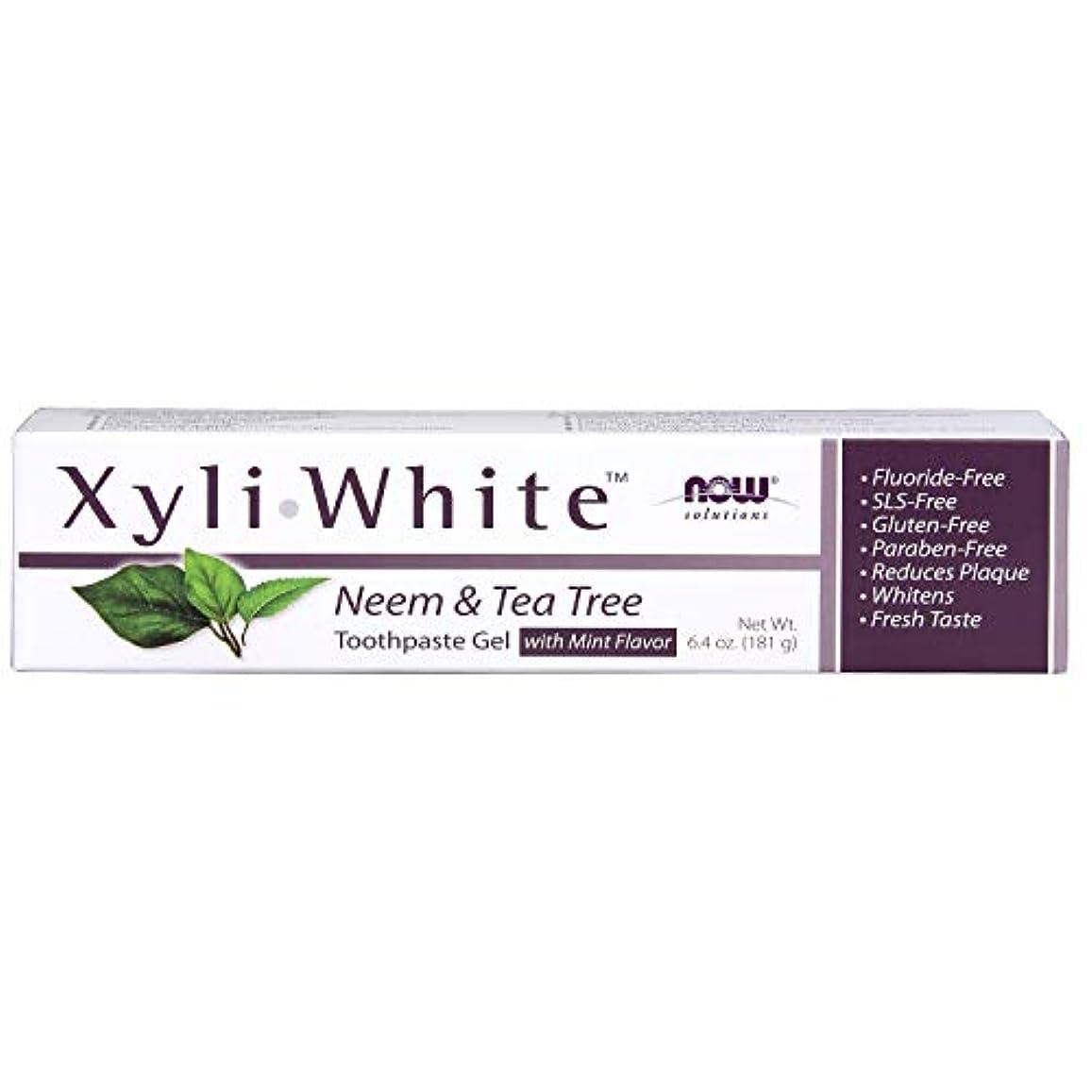 磁気混雑強風キシリトール 歯磨きジェル  ニーム&ティーツリーミントフレーバー 6.4 oz (181 g)