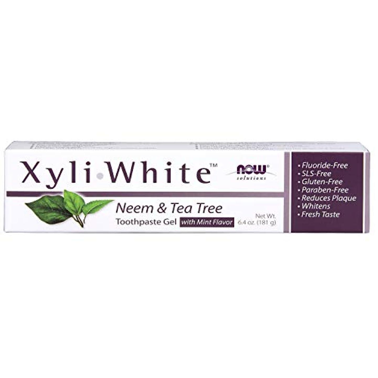 いとこ批判的に普通にキシリトール 歯磨きジェル  ニーム&ティーツリーミントフレーバー 6.4 oz (181 g)