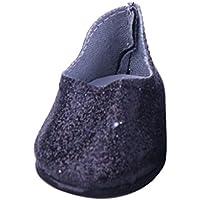 ノーブランド品  ファッション ドール ブリンブリン シューズ  18インチ アメリカンガールドール用 10色選べる - ブラック