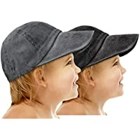 AVANTMEN Kids Baseball Cap Toddlers - Distressed Washed Sunhat Baby Little Boys Girls Cotton Hat 2-7 Years