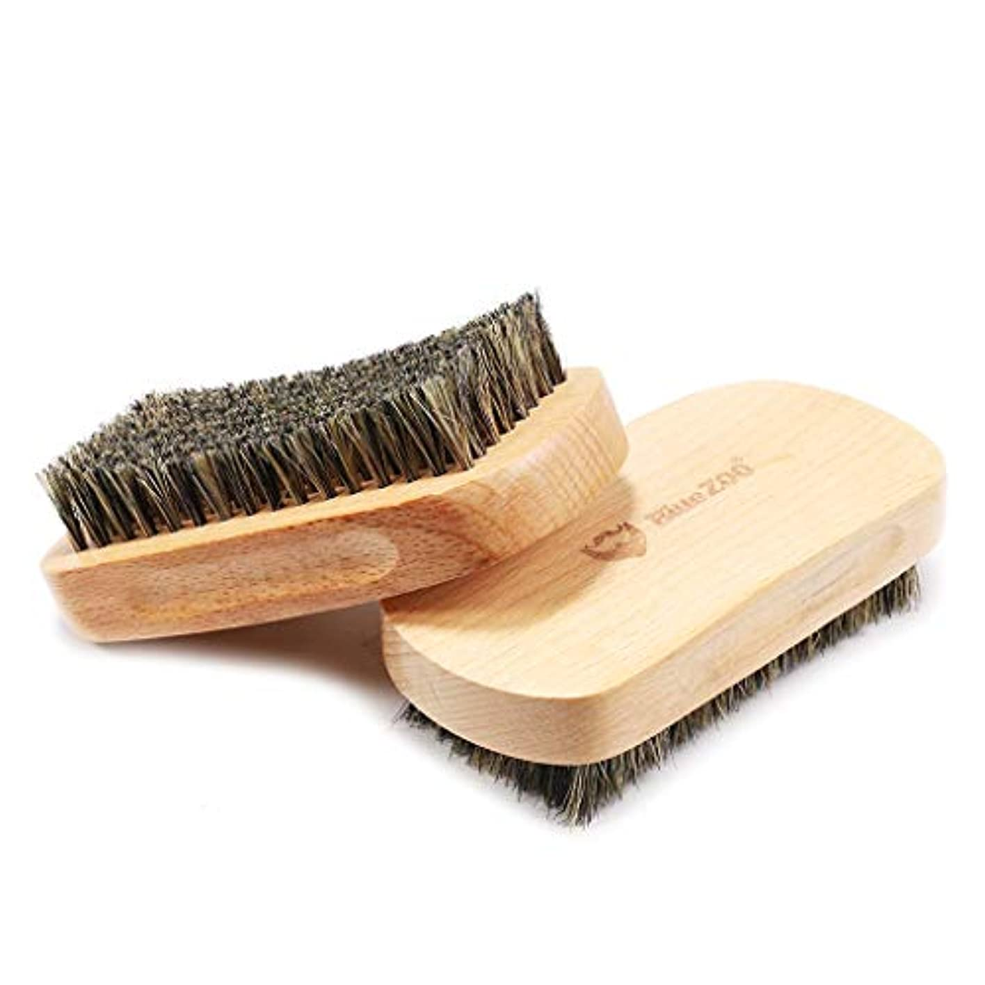 P Prettyia ひげブラシ シェービングブラシ メンズ 毛髭ブラシ ひげ剃り 硬い剛毛 理容 洗顔 髭剃り