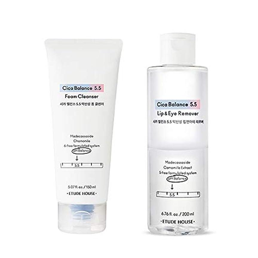 動物園懲戒連想[Etude] エチュードハウス Cica Balance 5.5 Makeup Remover & Gel Cleanser Set シカバランス 5.5 メイク落としリムーバー200ml&クレンジングジェル150ml...