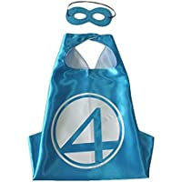 Marvel Comicsコスチューム – Fantastic Four Cape and Mask withギフトボックスbyスーパーヒーロー