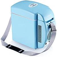 Poweradd ミニ冷温庫 家庭 車載両用 2電源式 冷温両用 保冷 保温 冷蔵温度:環境温度以下約15℃ 温蔵温度:50±10℃ AC-DC電源変換アダプターが付き 小型7L(ブルー)