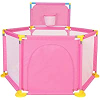ベビープレイペン ピンクボールプール/フェンス屋外ゲーム保護子供用屋内玩具