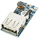 SODIAL(R) DC-DC 0.9-5V 600MA電圧ステップアップブーストモジュールUSB充電器ブルー