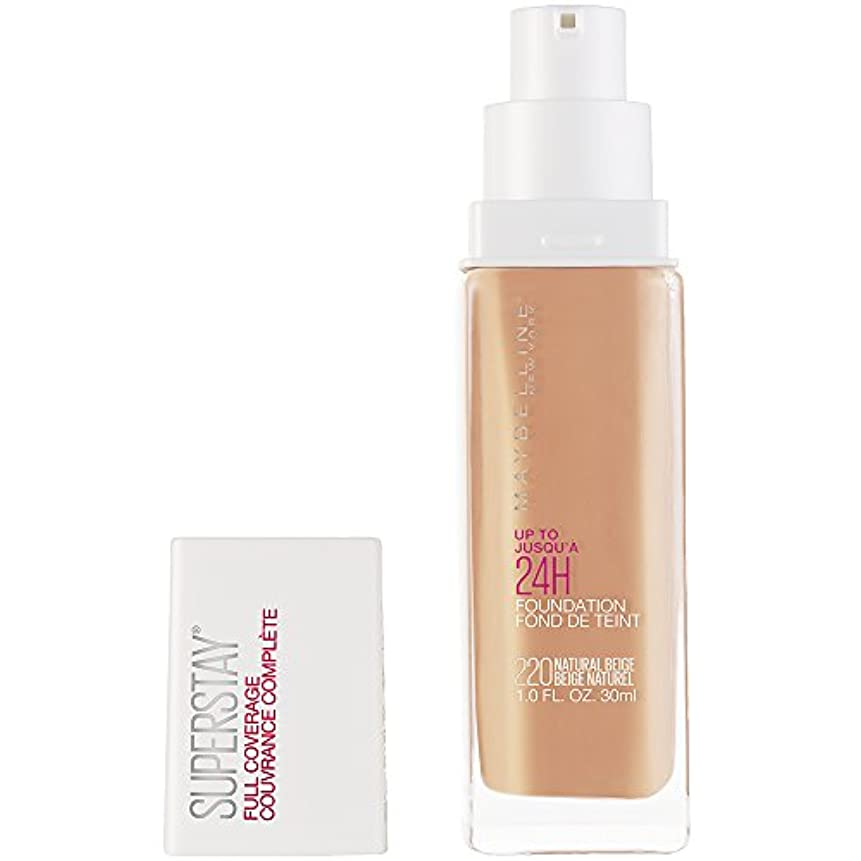 囲い遡る件名MAYBELLINE Superstay Full Coverage Foundation - Natural Beige 220 (並行輸入品)