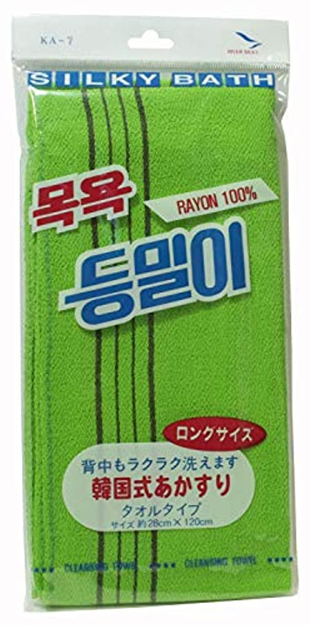 デコードする月曜日ロイヤリティ韓国発 韓国式あかすり タオルタイプ ロングサイズ KA-7