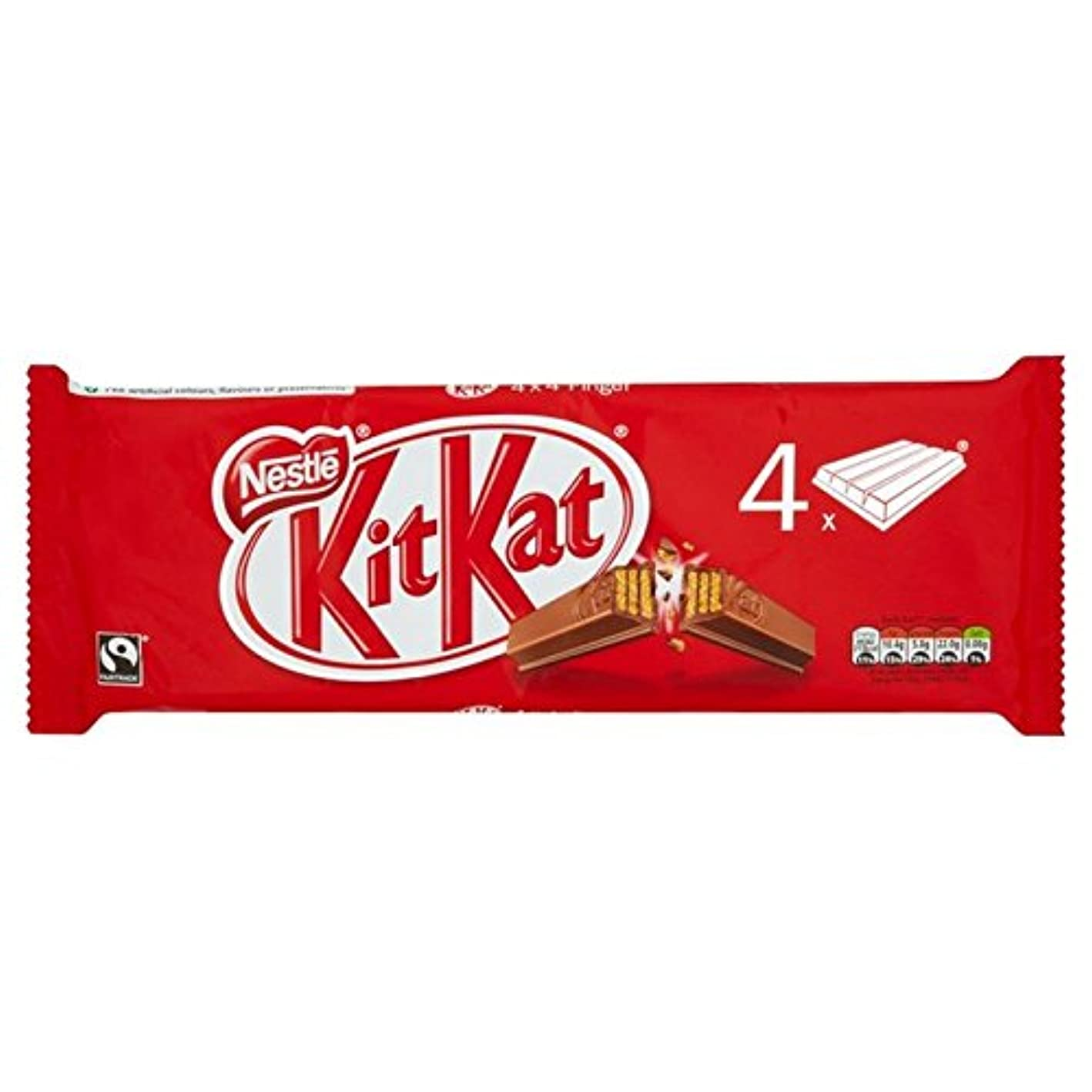 タイルオール辞任(Kit Kat (キットカット)) 4指の166グラム (x2) - Kit Kat 4 Finger 166g (Pack of 2) [並行輸入品]