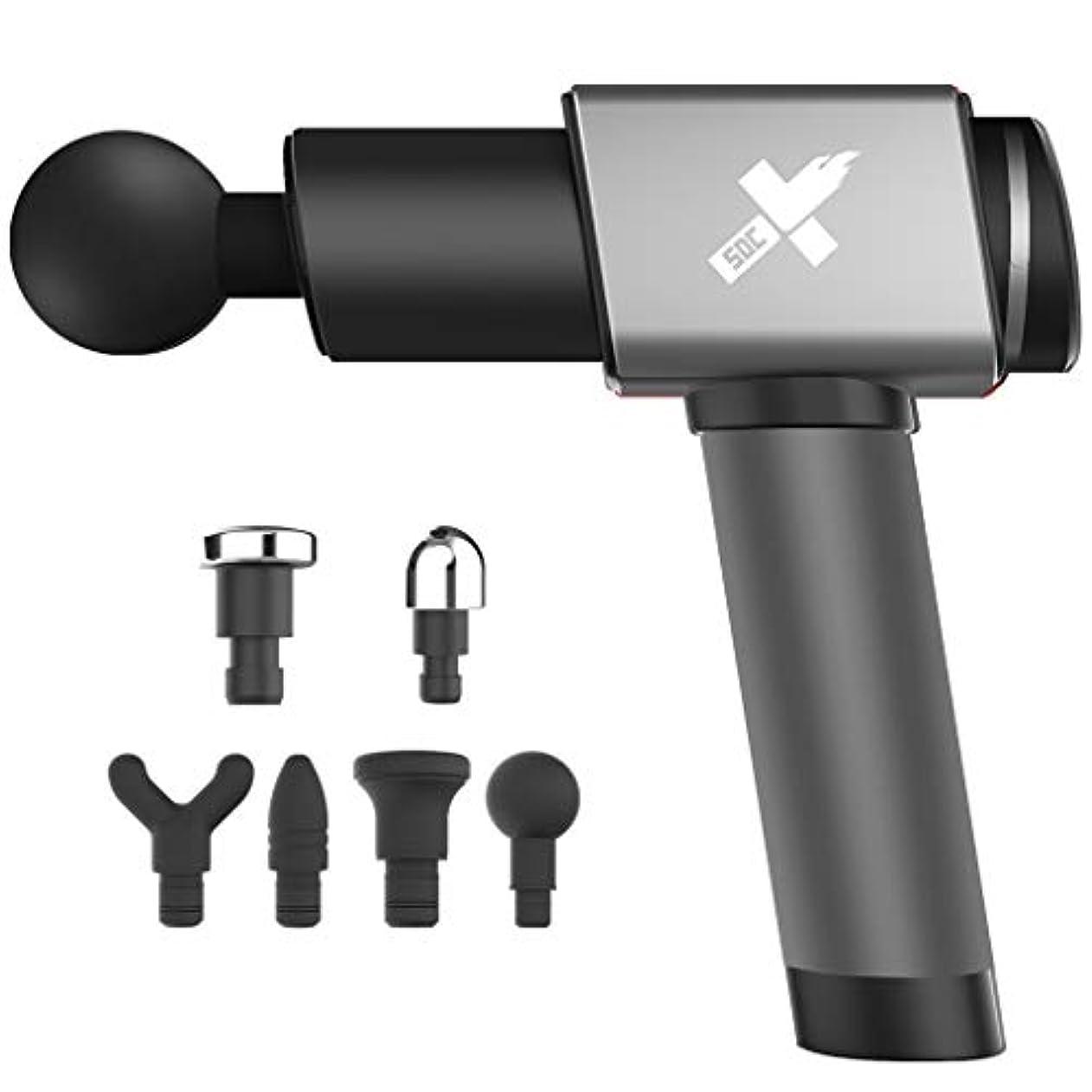 クマノミインドパース筋肉マッサージ銃、6つの調節可能な速度の専門の手持ち型の振動マッサージャー装置、コードレス電気打楽器全身筋肉マッサージ装置。
