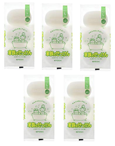 (まとめ買い)ミヨシ石鹸 家族のせっけんN145G×3個入り × 5パック