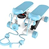 NSHUN Mini Stepper, Fitness Exercise Machine, Step Trainer Equipment with Resistance Bands Durable & Safe Treadmill and Comfortable Foot Pedals