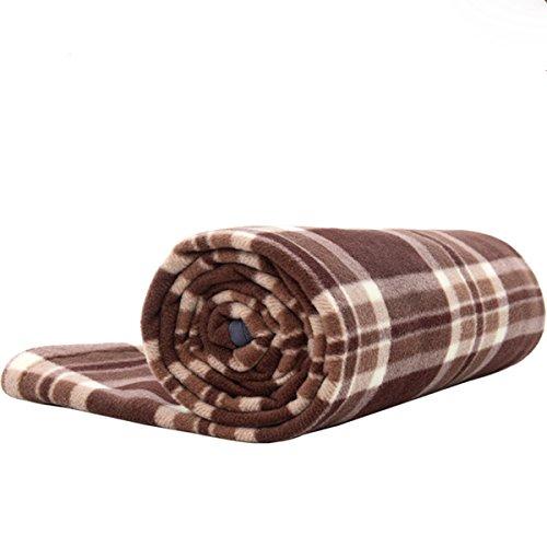 BE DAYS インナーシュラフ 寝袋 フリース 毛布 ブランケット 大判 あったかい ひざかけ ( 膝掛け ) アウトドア 車中泊 洗える チェック 封筒型
