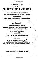 A Treatise on the Statutes of Elizabeth Against Fraudulent Conveyances [並行輸入品]