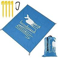 レジャーシート 人生 奇妙 鹿 ピクニックマット防水 携帯便利 150×145cm 2~6人用カ ラビナ付き