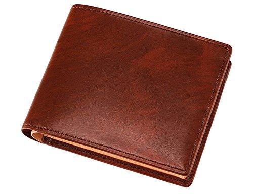 【キプリス】二つ折り財布(BOX小銭入れ付き札入)■シラサギレザー 822202