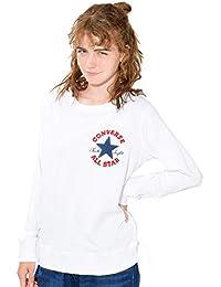 (ディーループ) D-LOOP CONVERSE 裏毛 サガラ 刺繍 クルーネック スウェット トレーナー レディース 長袖 プルオーバー 124122